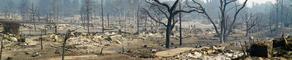 "NNapa and Sonoma counties wild fires demonstrate a ""love your neighbour"" attitude."