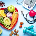 Healthy eating, exercising, weight and blood pressure control