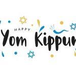 Yom Kippur colorful card with shofar
